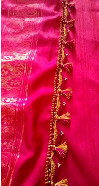 how to make saree pallu kuchu
