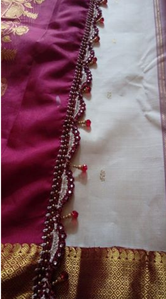 Beautiful saree kuchu designs with beads