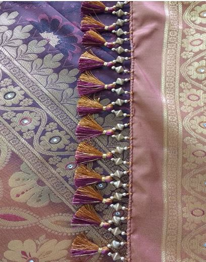 silk saree pallu kuchu designs