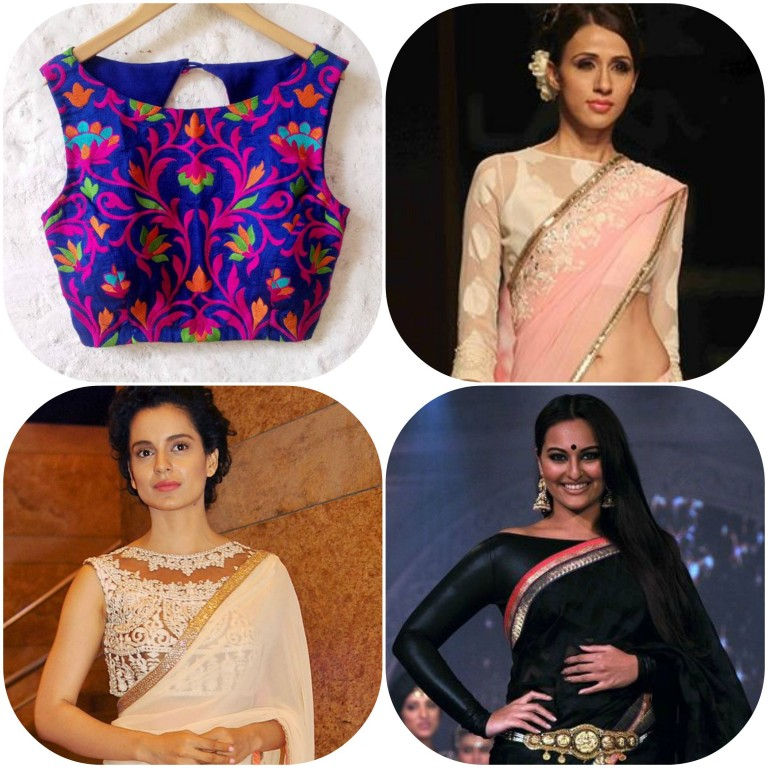 Awesome Beautiful Latest Saree Blouse Designs