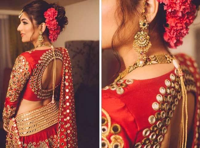 Gujarati Saree Blouse Designs