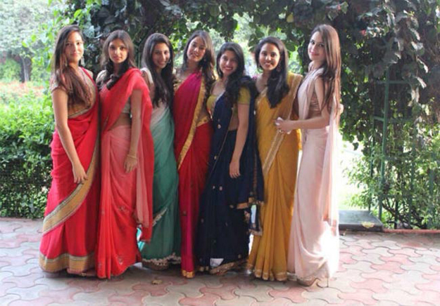 Wearing Saree for College Farewell