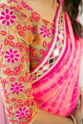 Gujarati Mirror Work Saree
