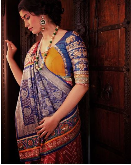 Saree Blouse Neck Designs