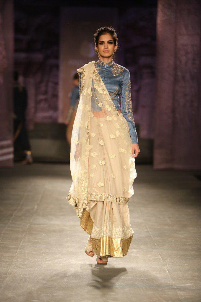 Gujarati Style Saree Draping