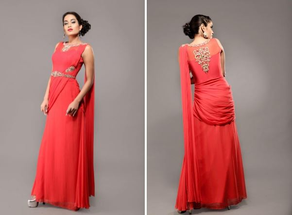 Saree Gown Design