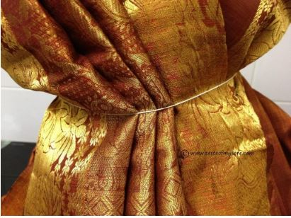 How to Wear Saree for Varamahalakshmi Pooja