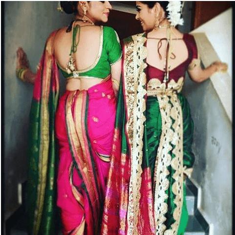 Nauvari Saree Draping Styles