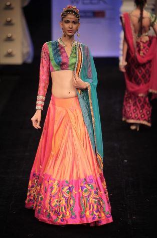 Saree Draping in Lehenga Style