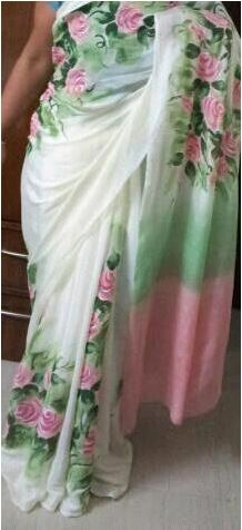 Saree Painting Design