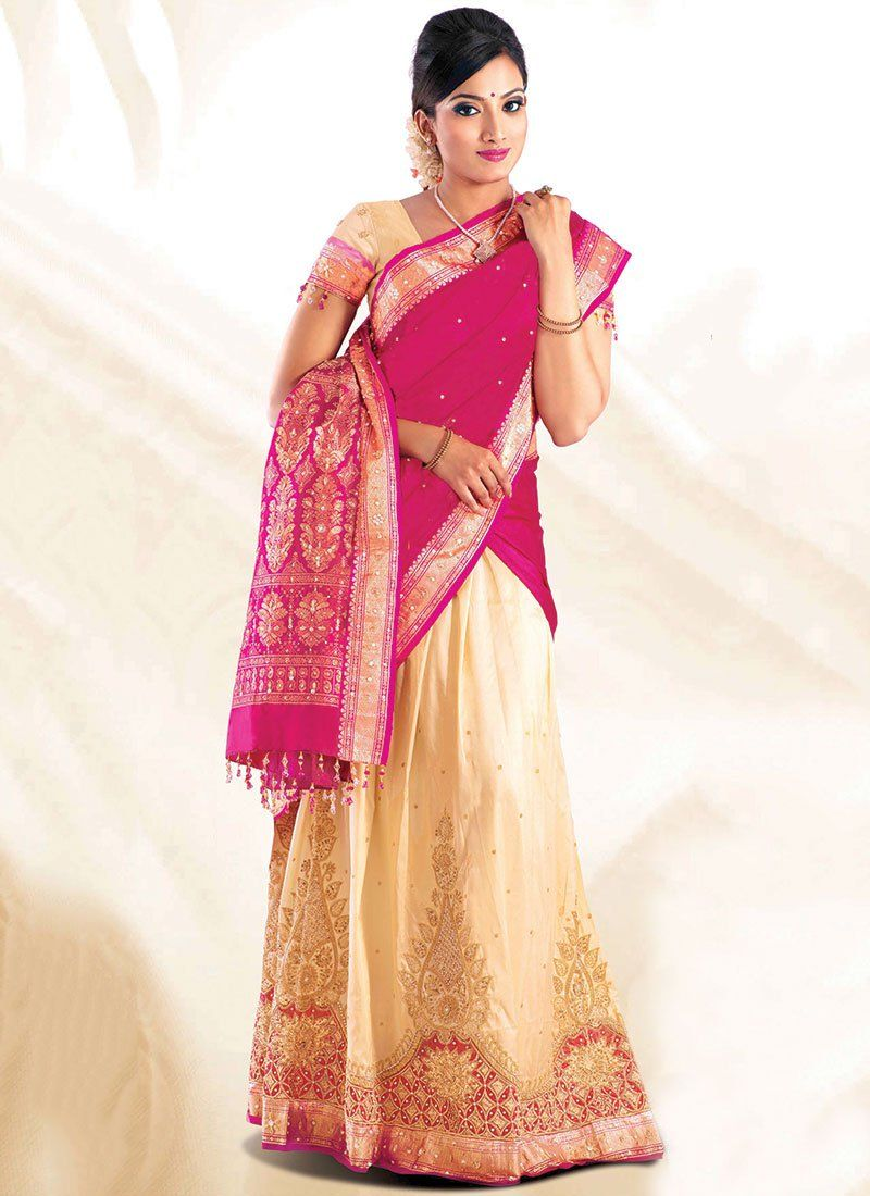 Wear Half Saree in South Indian Style